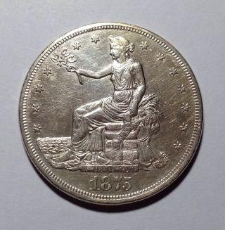 1875 - Cc Trade Dollar Key Date// Choice High Grade// Sharp photo