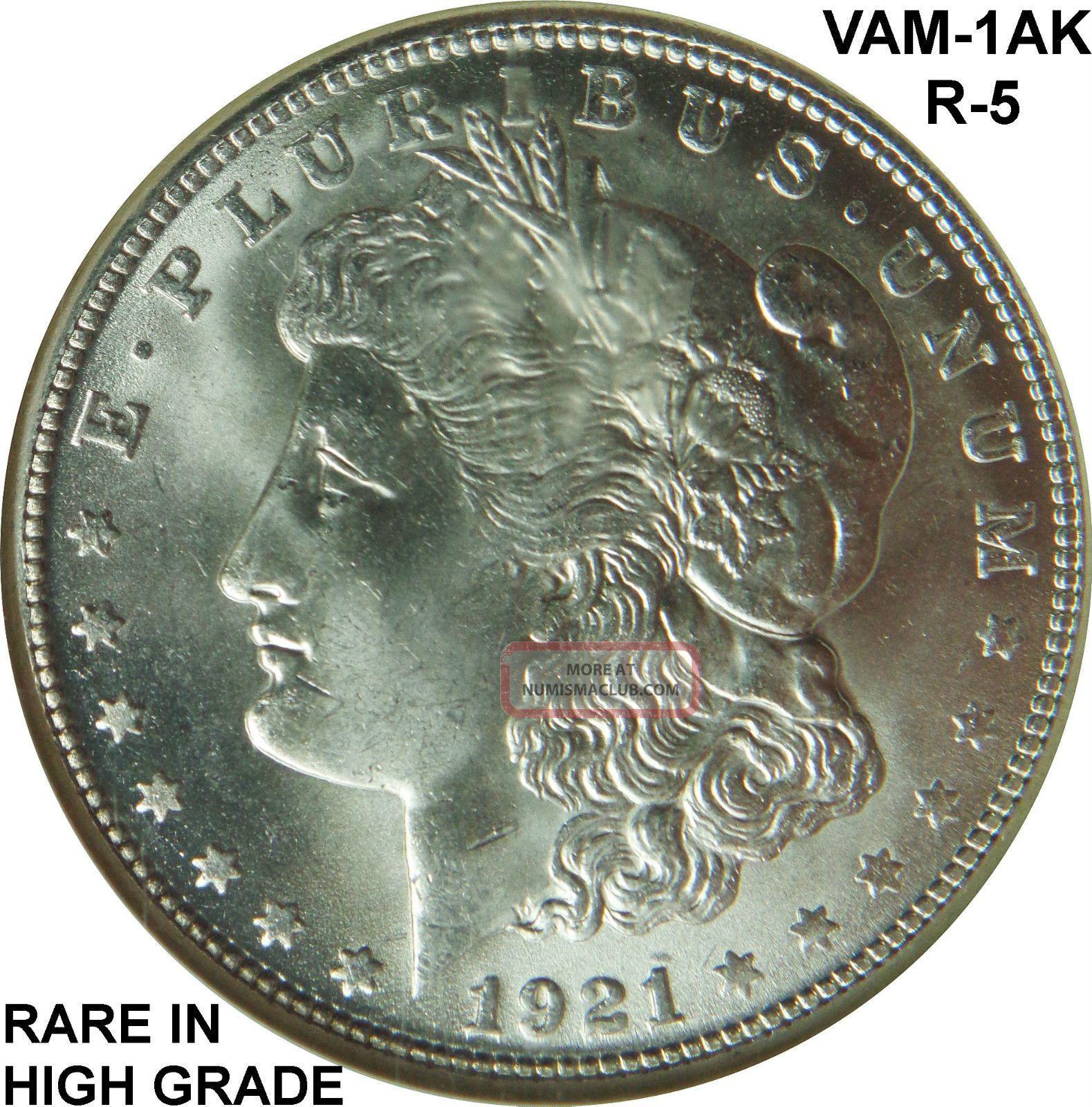 1921 S Morgan Silver Dollar Ngc Ms 65 Vam 1ak Over