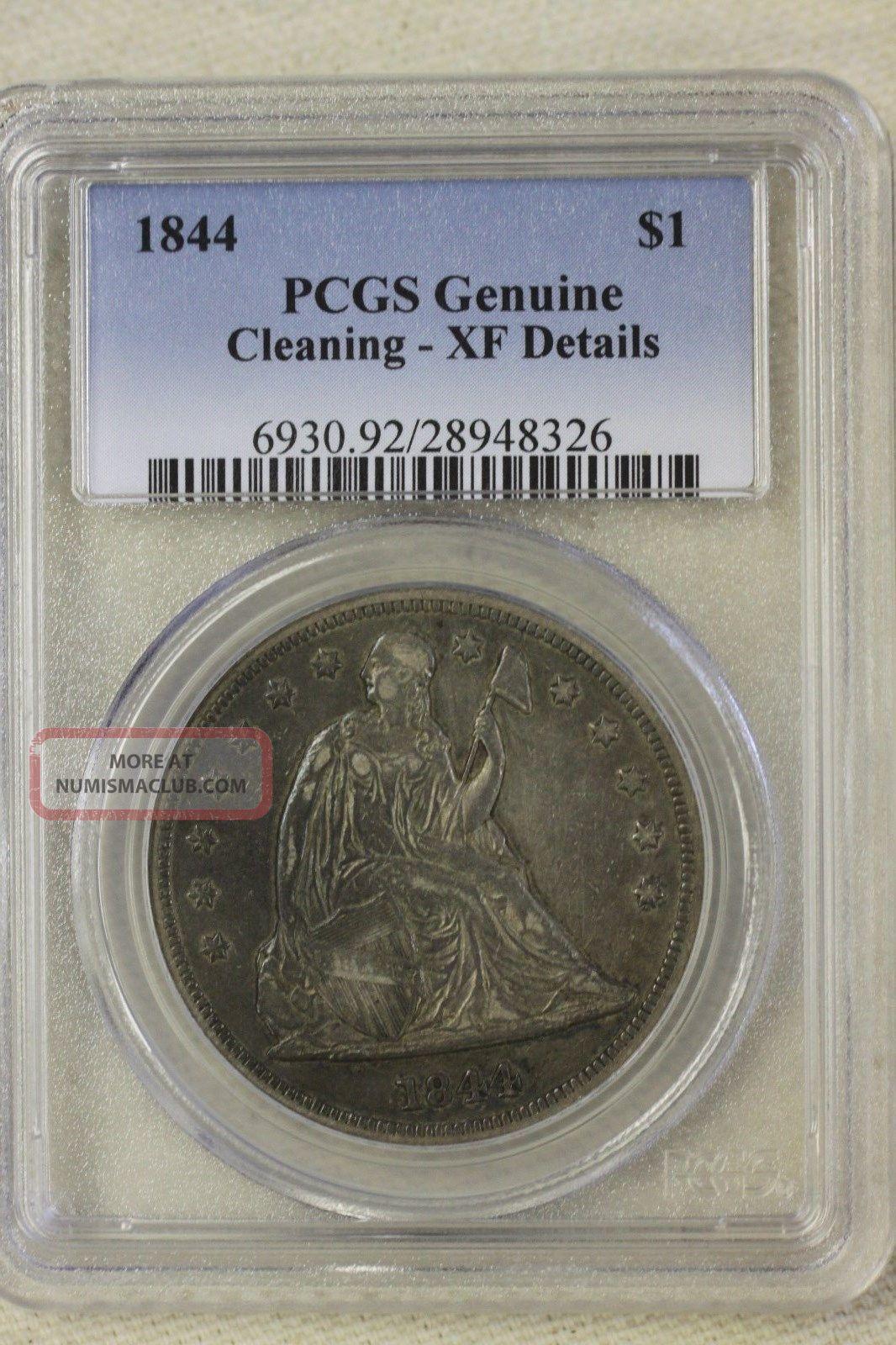 1844 Liberty Seated Dollar Rare Date Dollars photo
