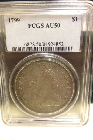 1799 Bust Dollar Pcgs Au - 50,  All Offers Considered photo