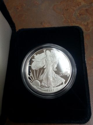 American Eagle One Ounce Proof Silver Bullion Coin 1999 Philidelphia photo