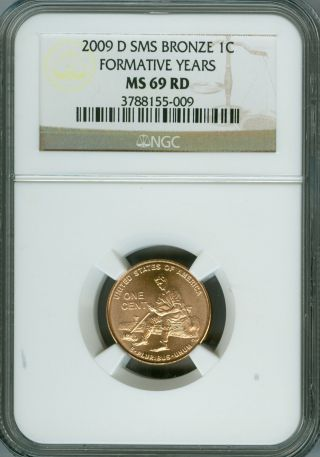2009 - D Cent Formative Years Ngc Ms69 Red Sms 95% Copper Finest Registry photo
