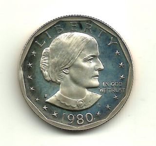 1980 S Susan B.  Anthony $1 Proof Coin photo