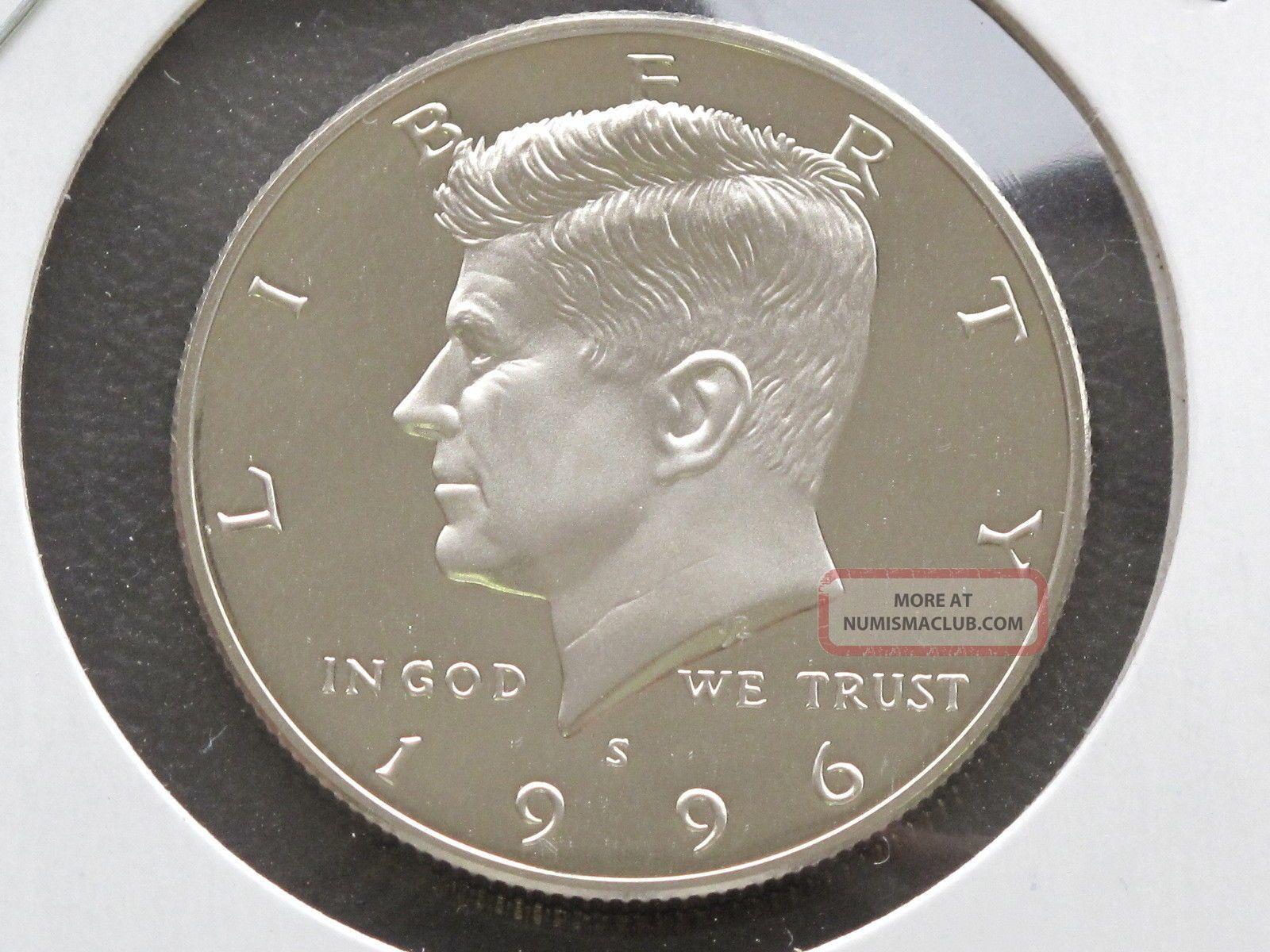 1996-S Proof Kennedy Half Dollar