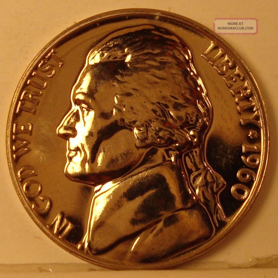 1960 Jefferson Nickel Gem Proof Coin