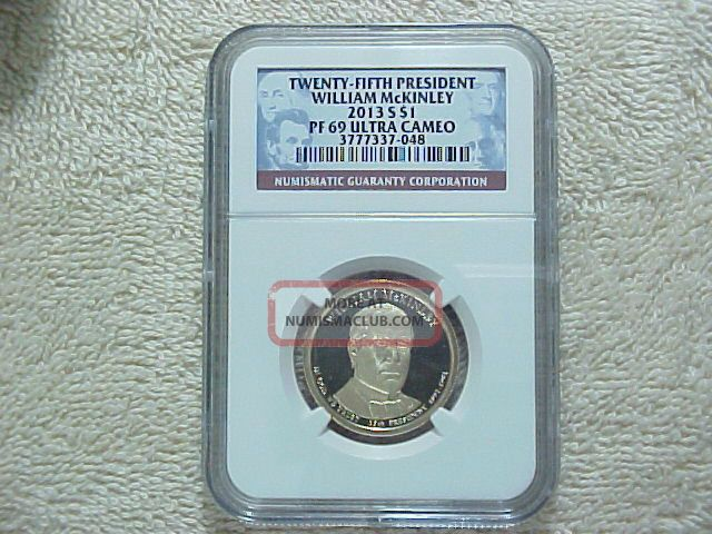 2013 S Proof William Mckinley Presidential Dollar Ngc Pf69 Ultra Cameo Coin Dollars photo