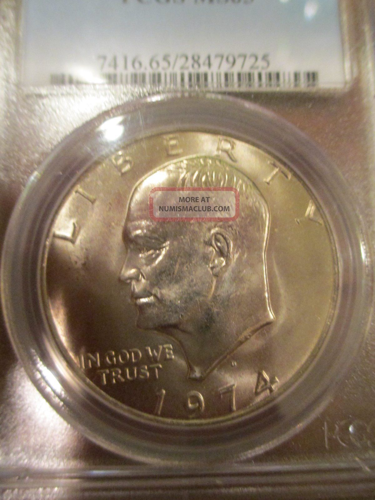 1974 D Ike Eisenhower Dollar 1 Coin Pcgs Ms 65