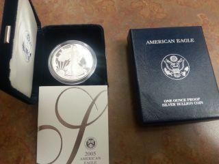 American Eagle One Ounce Proof Silver Bullion Coin 2005 West Point photo