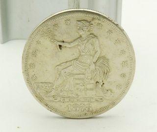 1878 S Silver Trade Dollar Sharp Detail Full Rim photo