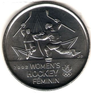 2009 Canada Uncirculated 25 Cent Commemorative Womens Hockey Quarer photo