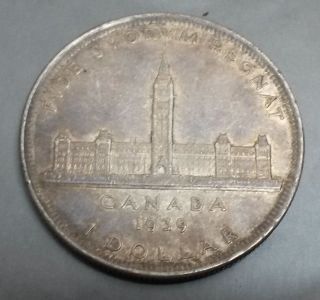 1939 Canadian $1 Dollar Silver Coin - Choice Very Fine To Extremely Fine photo