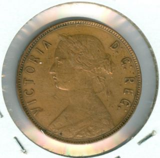 1888 Newfoundland Large Cent Au Grade. photo