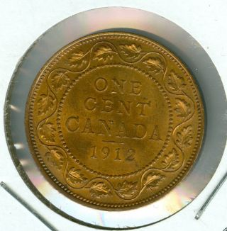 1912 Canada Large Cent Red Mid State Grade. photo