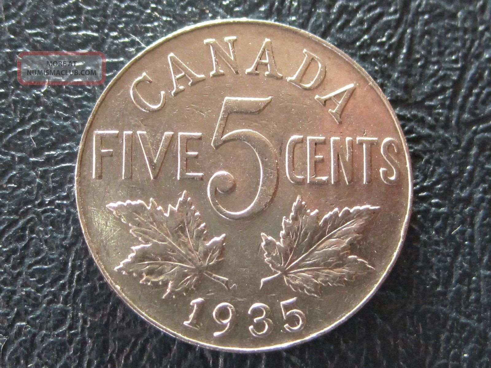 Canada 1935 Extremely Fine Five Cent