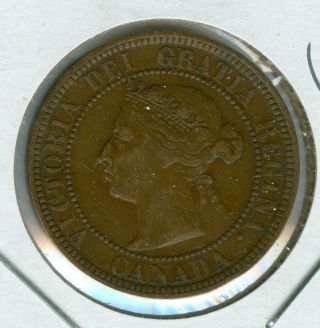 1888 Canada Large Cent Ef Plus Grade. photo