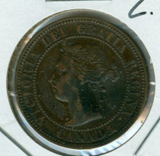 1896 Far - 6 Canada Large Cent Ef Grade. photo