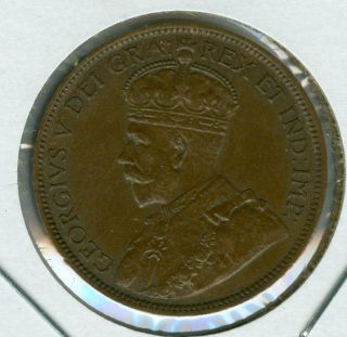 1918 Canada Large Cent Au Grade. photo