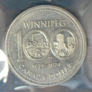 1974 Canada Dollar - Double Yoke Type 2 - Iccs Ms - 65 photo