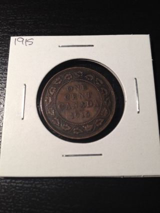 1915 Large Canadian Cent photo