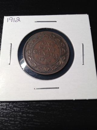 1912 Large Canadian Cent photo