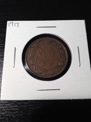 1917 Canadian Large Cent photo
