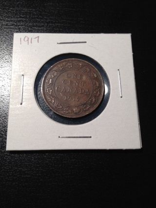 1917 Large Canadian Cent photo