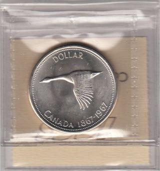 1967 1$ Centennial Silver Canada Iccs Kf264 Graded Ms62 photo
