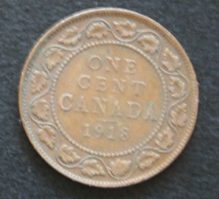 1918 Canada Large Cent Coin photo