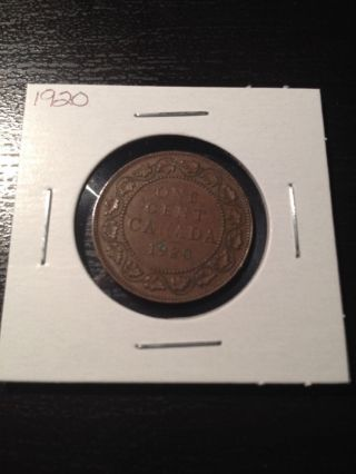 1920 Canadian Large Cent photo