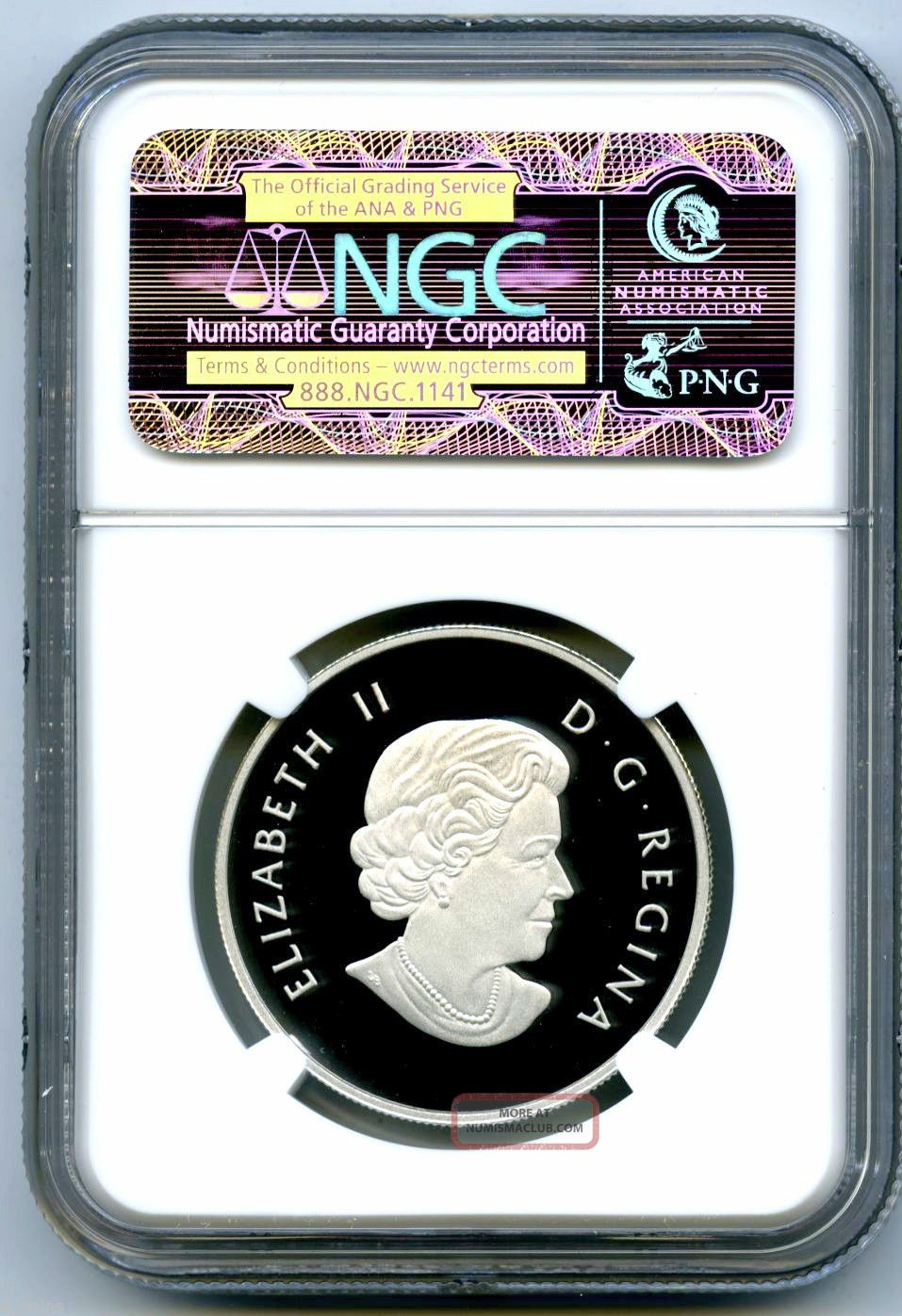 2013 Canada 10 Silver Proof Ngc Pf69 Ucam Hologram Twelve