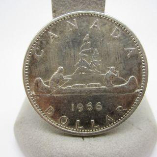 1966 Canadian Canada $1 One Silver Dollar Nr photo