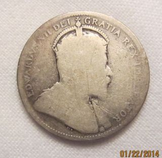 1906 Canada Canadian Twenty Five 25 Cent Cents Silver Coin photo