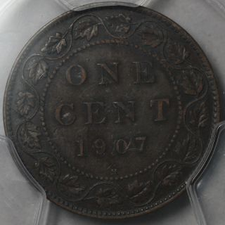 1907 - H Pcgs Xf 45 Canada Large Cent (king Edward Vii) Key Date Coin photo