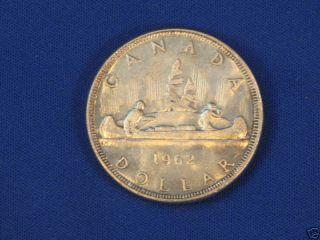 1962 Canada Silver Dollar T4908l photo