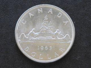 1963 Canada Silver Dollar Canadian Coin A1768 photo