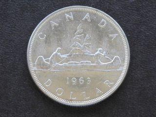 1963 Canada Silver Dollar Canadian Coin A1748 photo