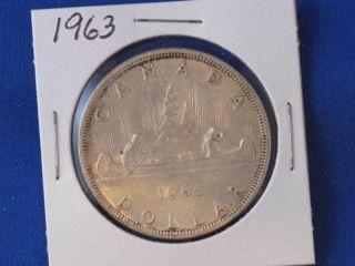 1963 Canada Silver Dollar Canadian B2835 photo