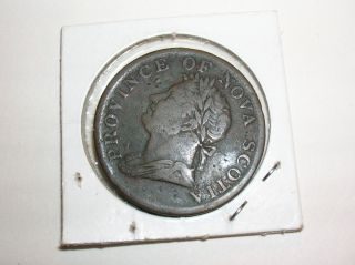 Nova Scotia Half Penny Token 1832 William Iv + Bonus Bank Token photo
