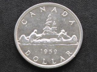1959 Canada Silver Dollar Canadian Coin A4227 photo