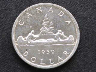 1959 Canada Silver Dollar Canadian Coin A4223 photo