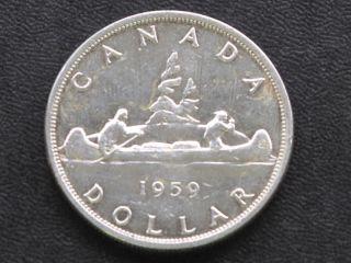 1959 Canada Silver Dollar Canadian Coin A4211 photo