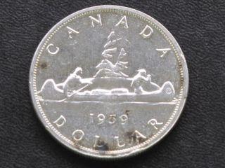1959 Canada Silver Dollar Canadian Coin A4208 photo
