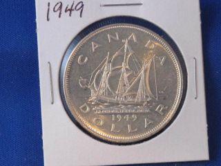 1949 Canada Silver Dollar George Vi Canadian B2820 photo