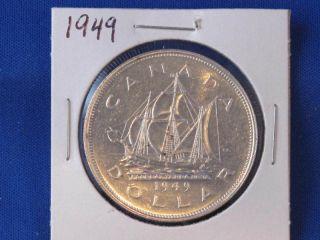 1949 Canada Silver Dollar George Vi Canadian B2819 photo