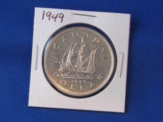 1949 Canada Silver Dollar George Vi Canadian B2816 photo