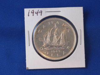 1949 Canada Silver Dollar George Vi Canadian B2815 photo