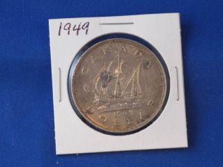 1949 Canada Silver Dollar George Vi Canadian B2812 photo