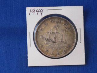 1949 Canada Silver Dollar George Vi Canadian B2811 photo