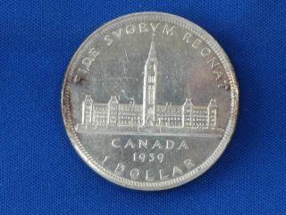 1939 Canada Silver Dollar B1070 photo