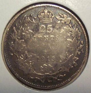 1913 Canada 25 Cents photo